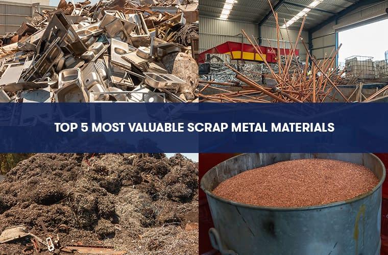 Top 5 Most Valuable Scrap Metal Materials